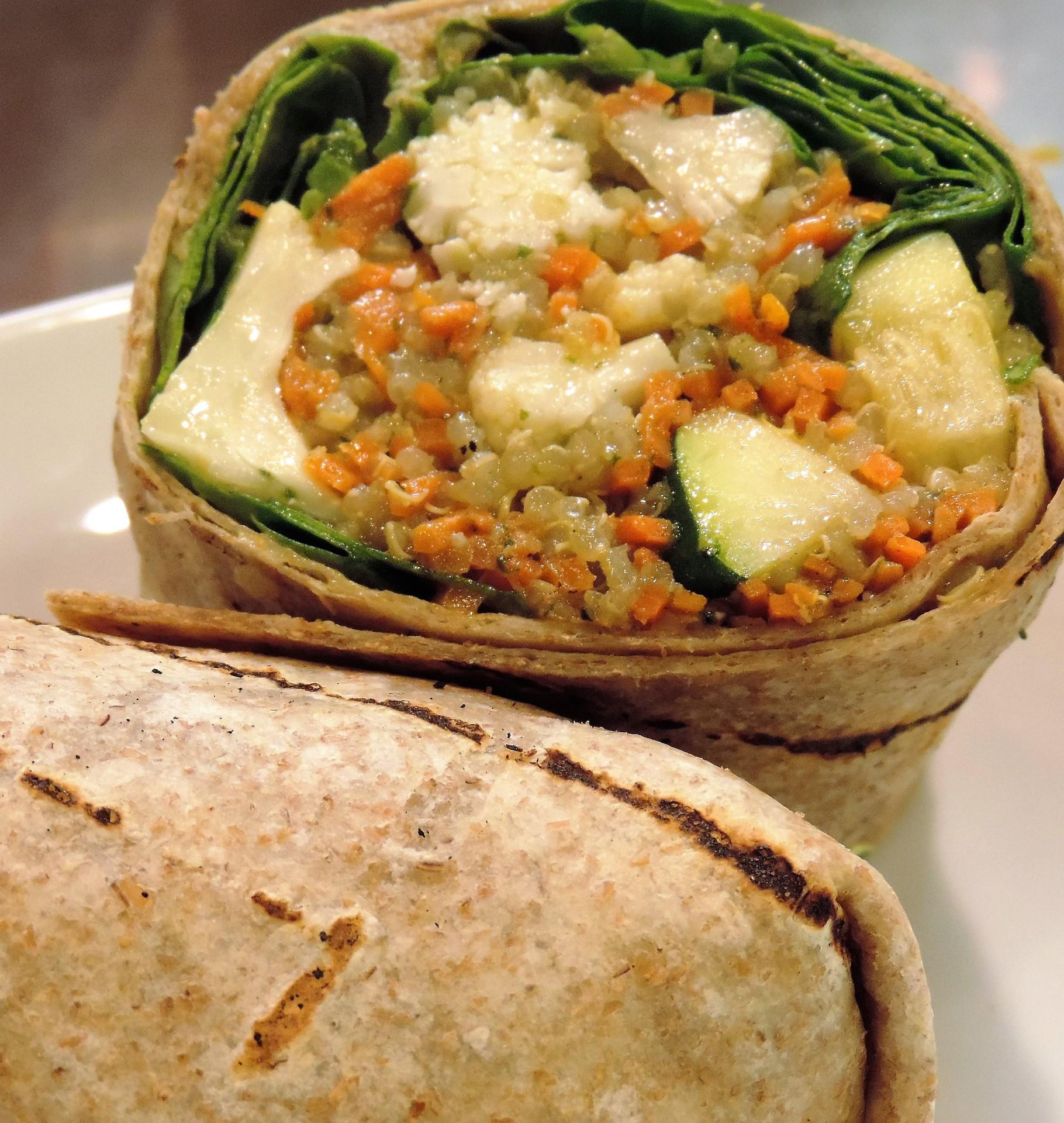Pesto &  Roasted Vegetable (Wrap)