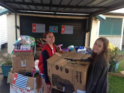 Waratah sisters dig deep for refugees in West Papua