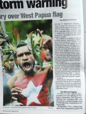 Storm warning Fury over West Papuan flag