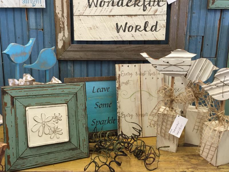 When shopping Waco for wood frames, handmade wood stars, wood signs, distressed wood birds, these are great home decor ideas.