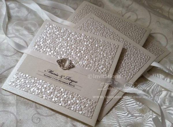 Customised wedding invitation Sheraton