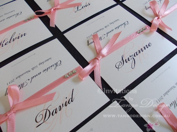 Wedding seating cards
