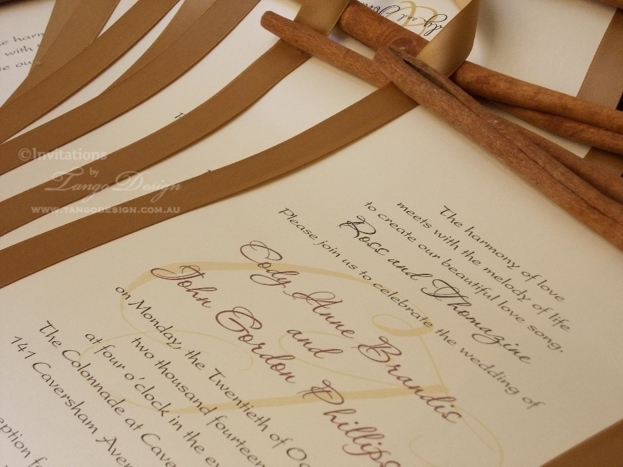 rustic elegant wedding invites