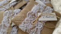 burlap lace wedding invitations