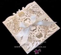 Champagne cream wedding invitations
