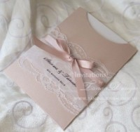romantic invitations with lace