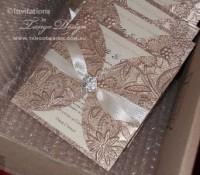crystal gold invites petal fold