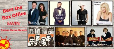 Jason Derulo, Donny & Marie, Suzanne Somers & Justin Moore to take the stage at Casino Rama Resort