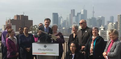 Minister Morneau speaks at Hugh Garner Housing Co-op in Toronto