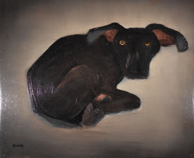 brenda barnum Xoloitzquintles- Dogs paintings
