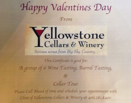 Group Date for Yellowstone Cellars and Winery