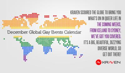 December Global Gay Events Calendar