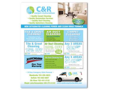 C&R Carpet print ad