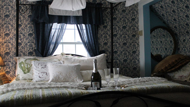 Clover Field House Bed and Breakfast Blue Room