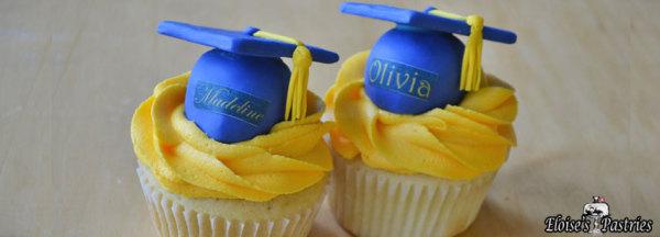 graduation cupcakes, high school graduation, grad cap cupcakes, graduation cake,