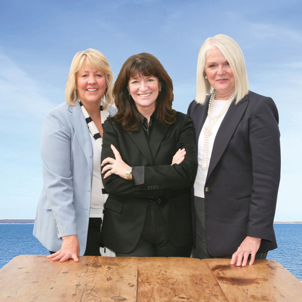 Janet Hummel, Judi Desiderio, and Nancy McGann of Town & Country Real Estate