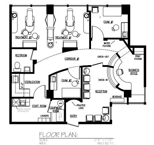 Veterinary floor plan design for Salon layout plans