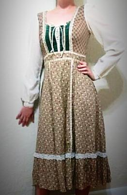 Vintage Gunny Sax bohemian peasant dress