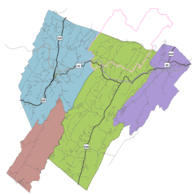 Planning Sectors or Regions