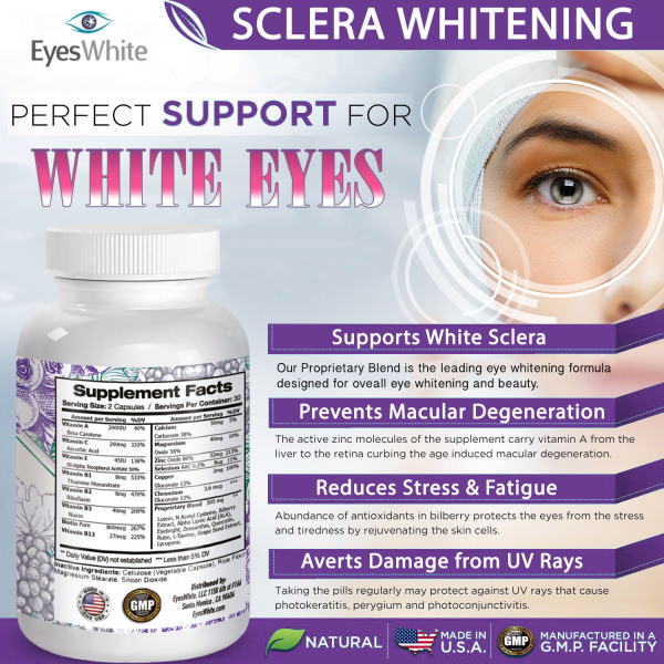 Whiten Sclera, White Eyes, Selenium, Lutein, Rutin, Bilberry, Eyebright, Grape Seed Extract, Zeaxanthin, Lycopene, Vision Support, Thera Tears, Eye Supplement.