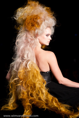 Hair by Frances Schroembges for L'Oreal at AFW