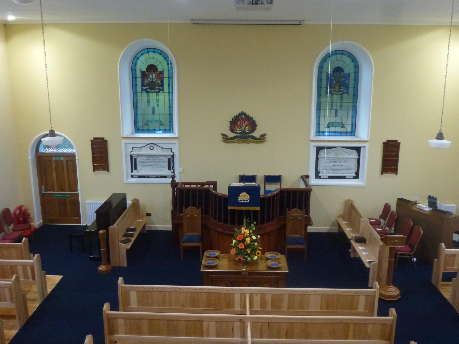interior of Clare Presbyterian Church Tandragee