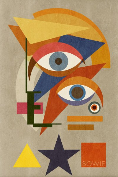 Bowie Bauhaus III - Included in Saatchi Art Collection