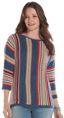 Women's Chaps Striped Knit Boatneck Sweater $17.66 w/ Code @ Kohl's - 2 Colors