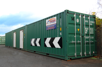 ranged shot of storage container