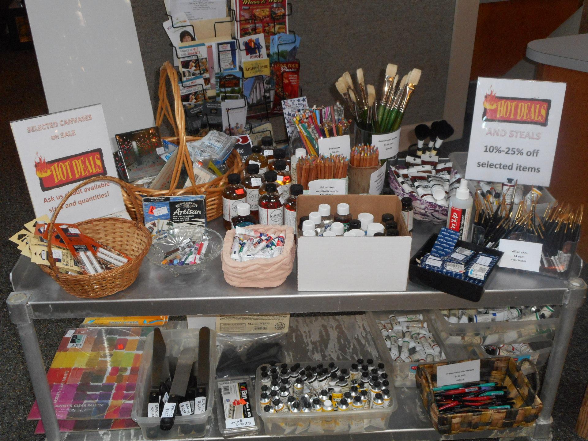 Galleria Gift Shop -- Art Supply Sale