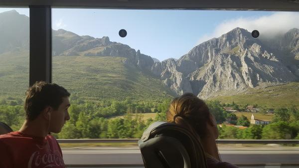 Snapshot of the ride over los Picos de Europa (Spain)