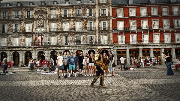Spain Group at Plaza Mayor (Madrid)