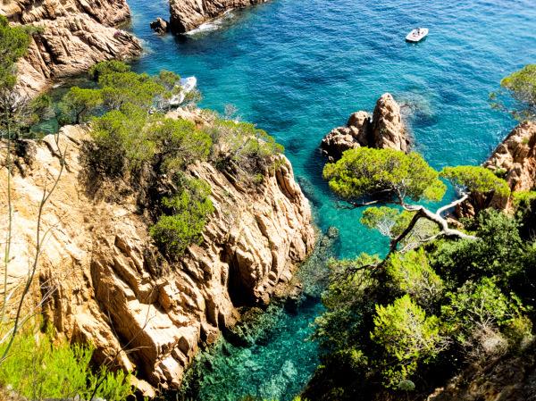Overlooking the wonderful waters of La Costa Brava, Spain.