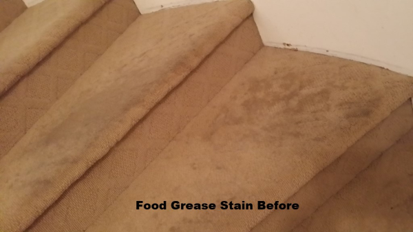 Stairs with stains