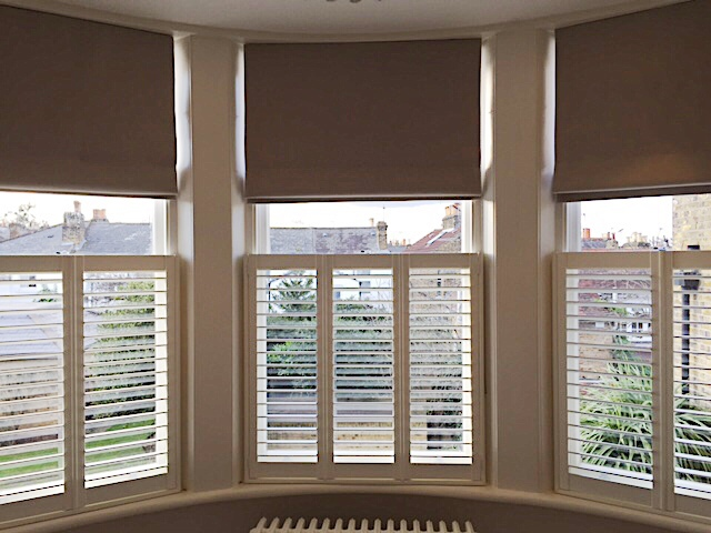 Roman blinds and shutters installed in Richmond