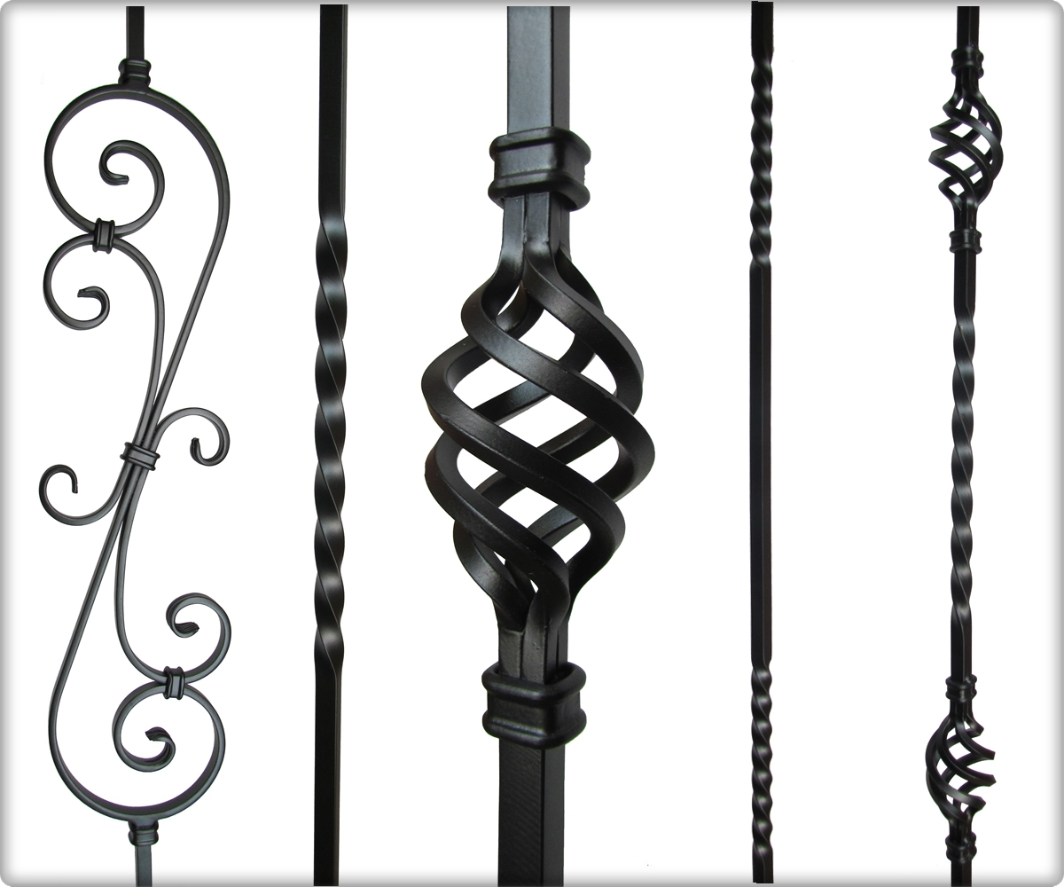 European solid iron balusters