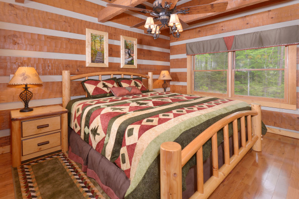 Appalachian Escape Upstairs king bedroom with memory foam mattress
