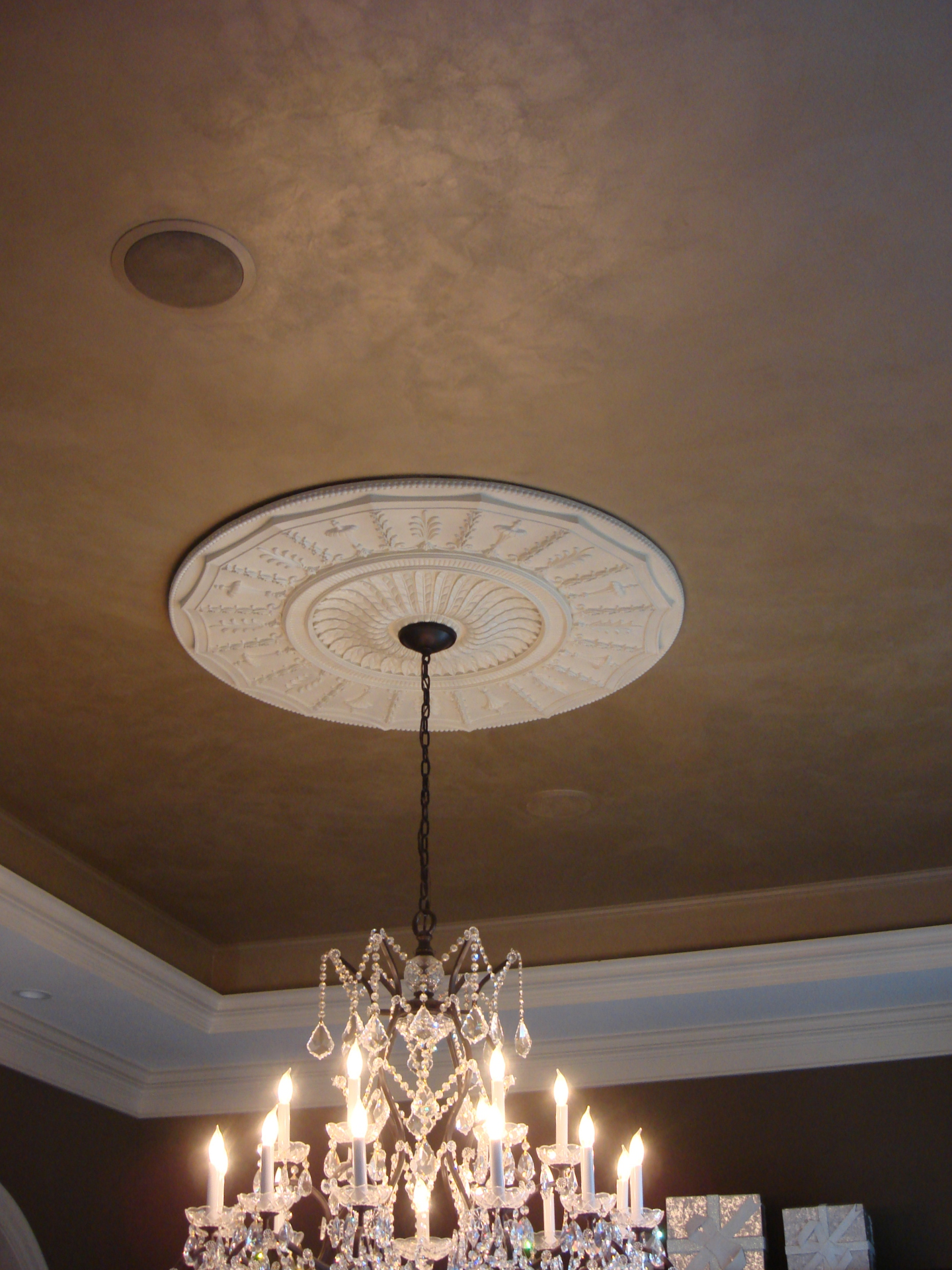 shimmered suede metallic texture ceiling