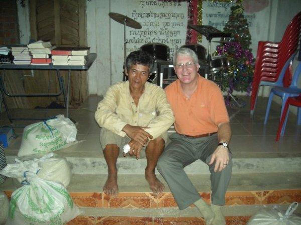 Cambodian Village Pastor w/ GCI President, Jim Weber