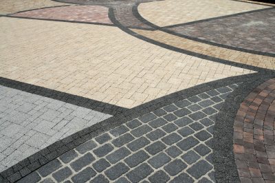 An amazing example of the colour range and shapes possible with Creative Stone Castings Driveway Blocks
