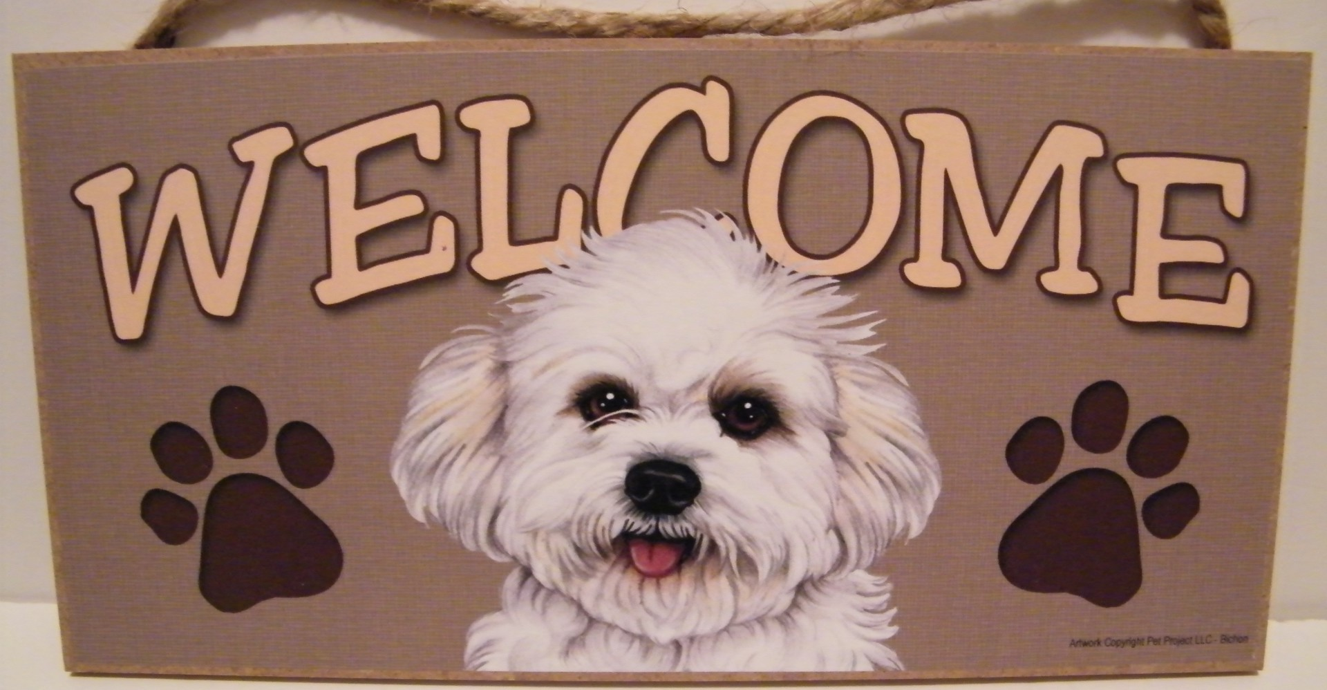 Bichon Puppy Sign