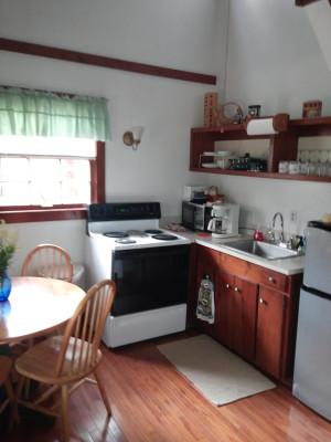 Cottages have fully furnished kitchens