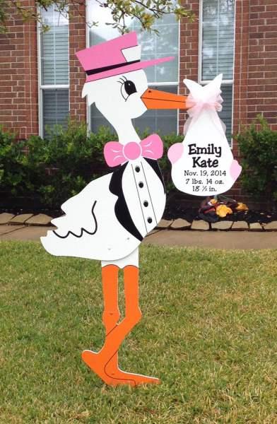 chicago stork birth announcement