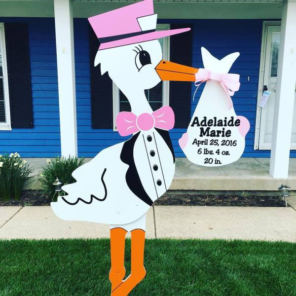 stork sign rentals, stork birth announcement, rent a stork