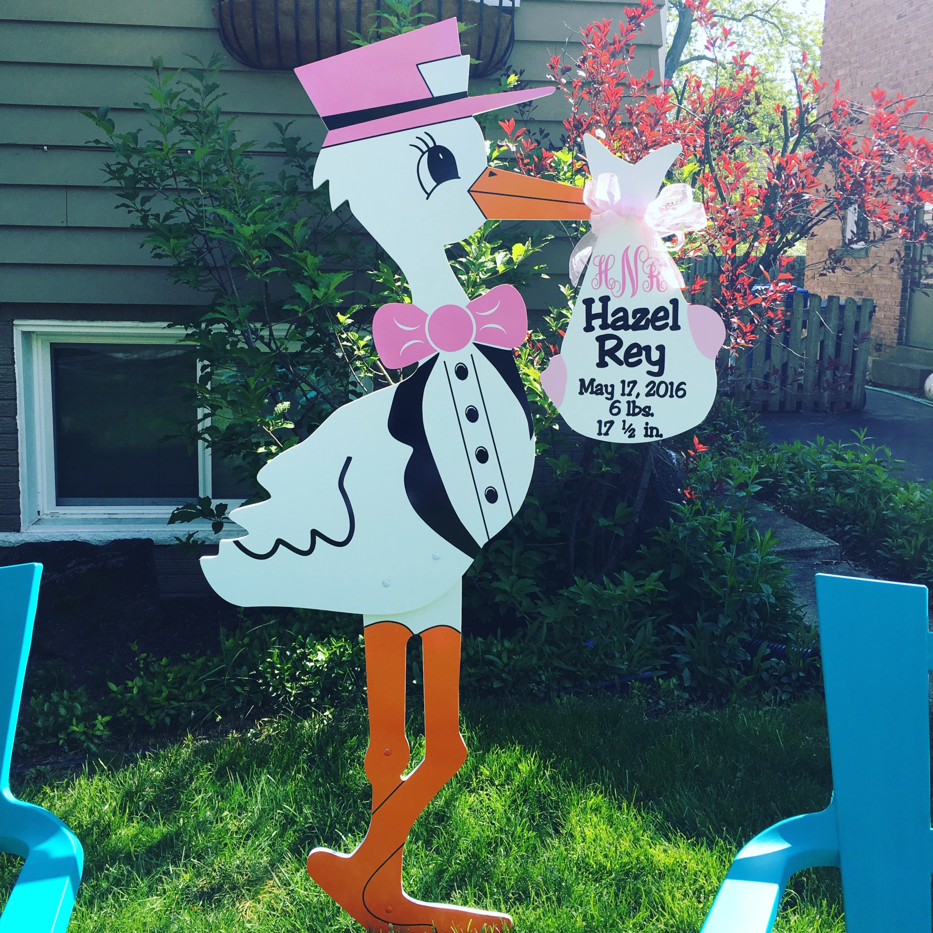 stork sign rentals, stork birth announcement, rent a stork, chicago storks