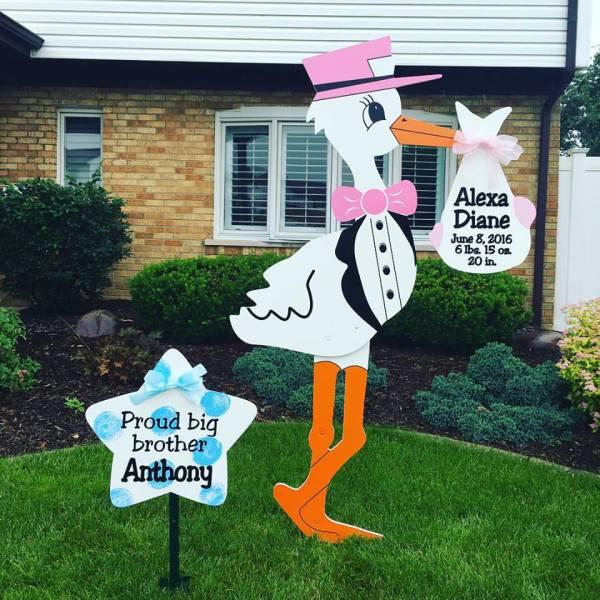 stork sign rentals, stork birth announcement, rent a stork,