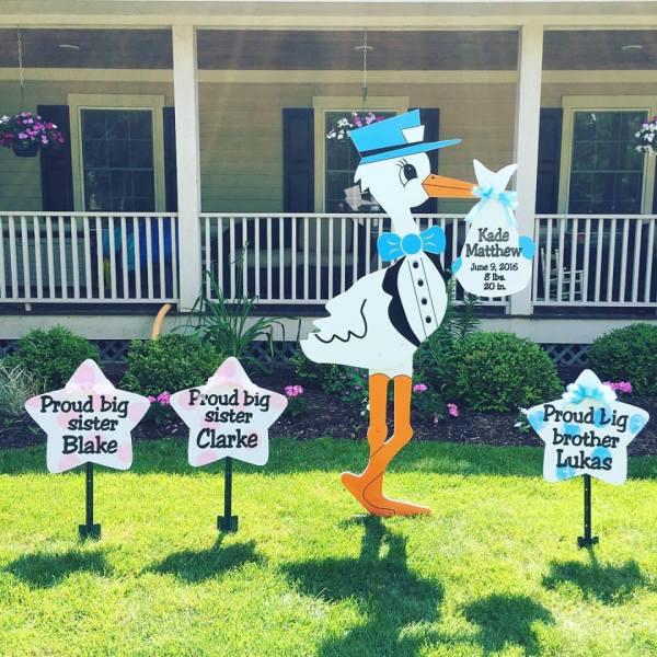 stork sign rentals, stork birth announcement, rent a stork, twins