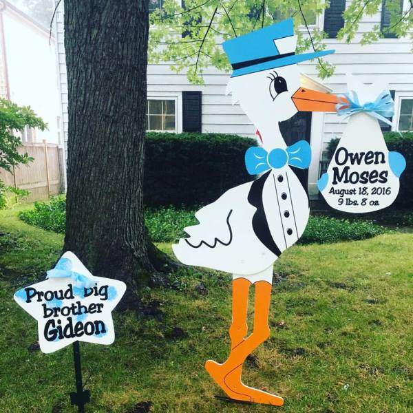 stork sign rentals, stork birth announcement, rent a stork, birth announcements