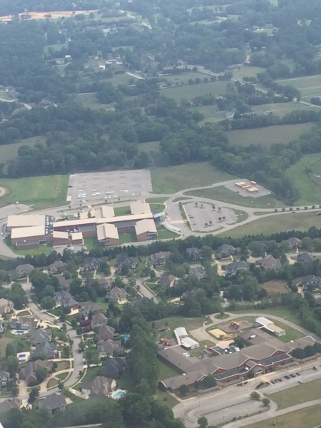 Picture  of East Hamilton and Hurricane Hill  taken while Brielle Osburn  was flying .