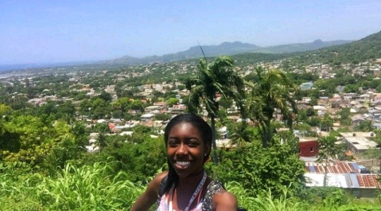 Makalah Smith, a junior, travelled to the Dominican Republic over summer.